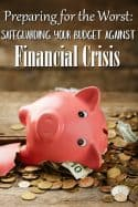 How to Safeguard Your Family Budget Against a Financial Crisis - Think a financial crisis can't happen to you? Think again! They happen before you even know it! These tips can help you protect your family budget and bank accounts!