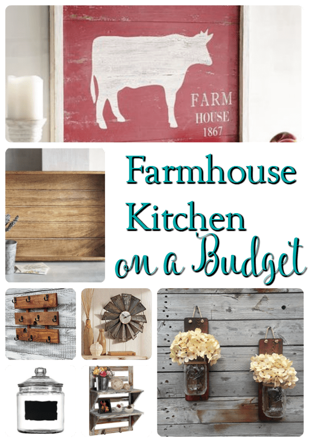 Ready to decorate your kitchen? You'll love these farmhouse kitchen decor accessories that won't break your budget and help you get the look for less! Budget friendly and they look great too! What more could you want?