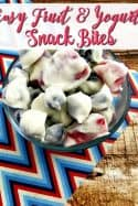 Looking for a cheap, healthy snack recipe? This fruit and yogurt bites recipe fits the bill! They're delicious and oh so easy!