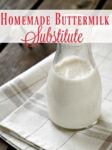 "Making a recipe that calls for buttermilk but have none in the fridge? No fear! This homemade buttermilk substitute is amazing! You'll never be able to tell you didn't use the ""real"" thing!"