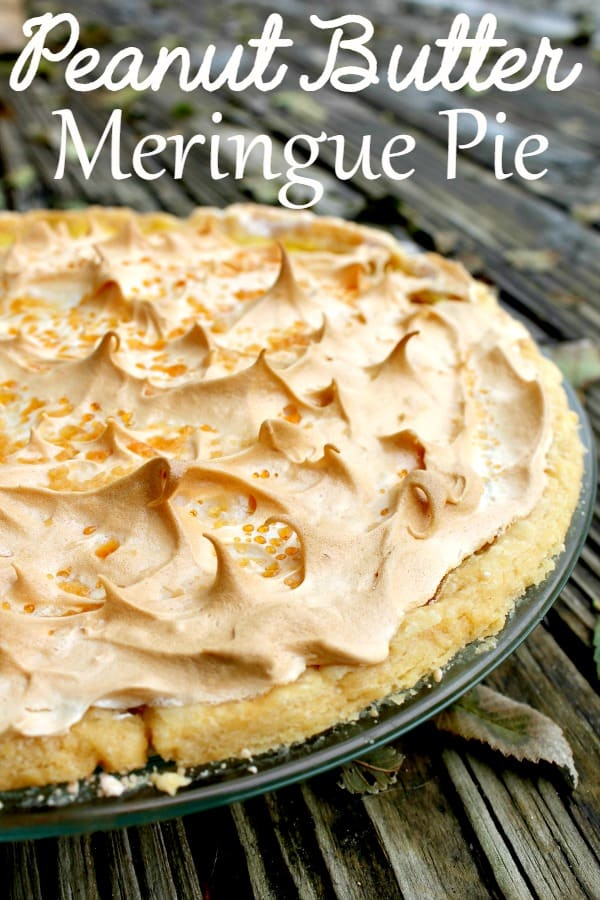 This peanut butter meringue pie recipe is the best! It's one of my favorite pie recipes and is easier to make than it looks! It's sure to become your new favorite pie recipe!
