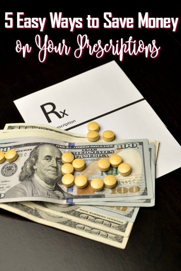 Prescriptions are so expensive! These 5 ways to save money on prescriptions can help! Cut your costs and stay healthy at the same time!