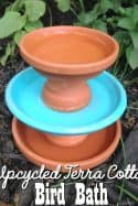 DIY Upcycled Terra Cotta Bird Bath