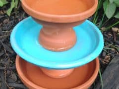 This is for the Birds! DIY Upcycled Terra Cotta Bird Bath