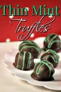 Thin Mint Truffles Recipe {Girl Scout Cookies Recipe}