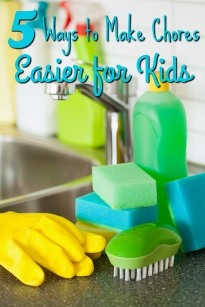 Having a hard time getting your kids to complete their chores? These 5 ways to make kids chores easier are sure to help!