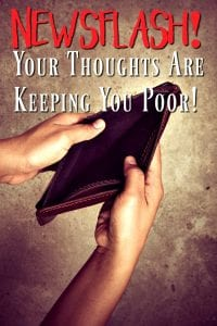 Have you checked your thoughts lately? No? Did you know they can affect your personal budget? They sure can! In this post, I'll show you how negativity can ruin your budget and how to fix it!
