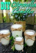 Homemade Citronella Candles - Say farewell to mosquitoes! These DIY Citronella candles are a fantastic natural mosquito repellent, make a great gift and work fantastic!