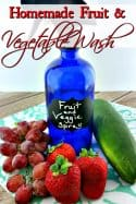 Homemade Vegetable Wash - Make sure you're getting all of the gunk off your fruits and vegetables with this super easy homemade vegetable wash!