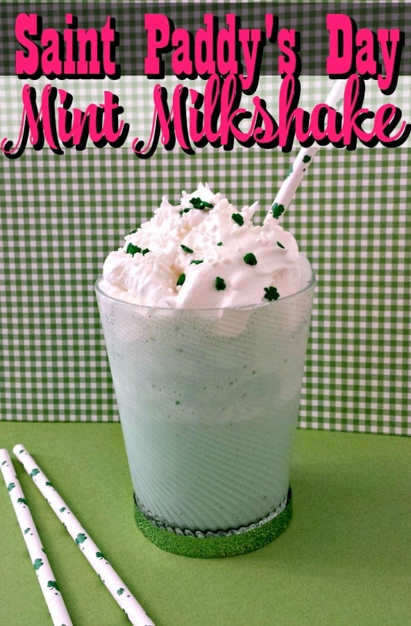 Craving cool, minty goodness? This mint milkshake recipe is perfect for Saint Patrick's Day or just because! If you love the Shamrock Shake, you'll ADORE this version!