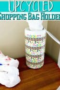 DIY Upcycled Shopping Bag Holder