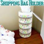 DIY Upcycled Shopping Bag Holder