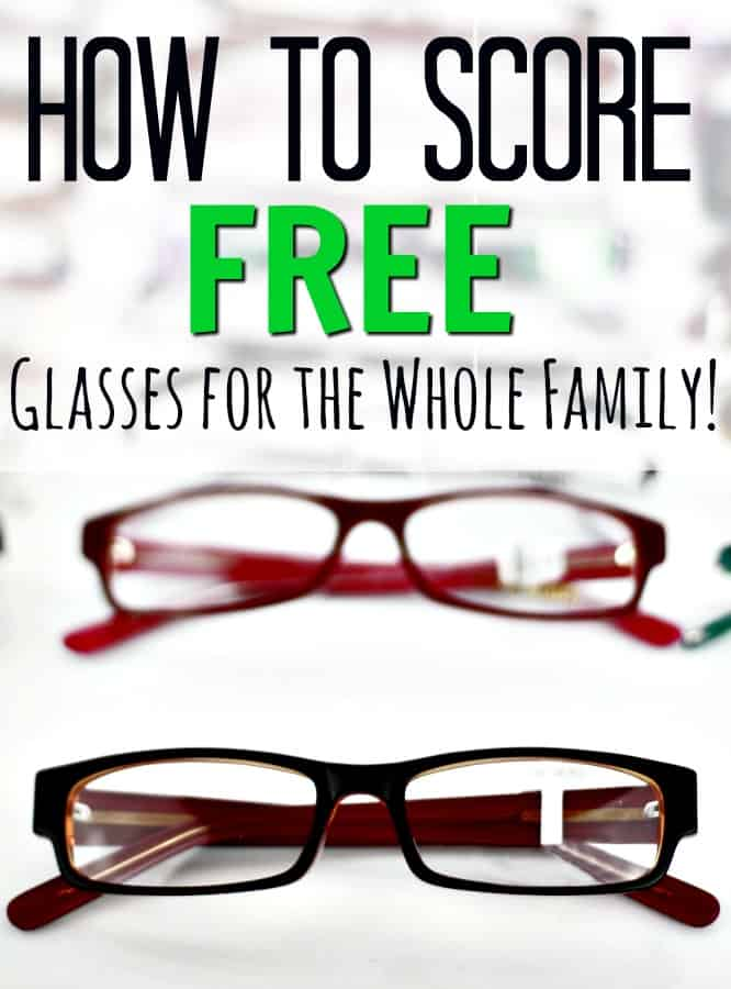 Need new glasses? Don't pay for them! Let me show you how to get eyeglasses free for the whole family!