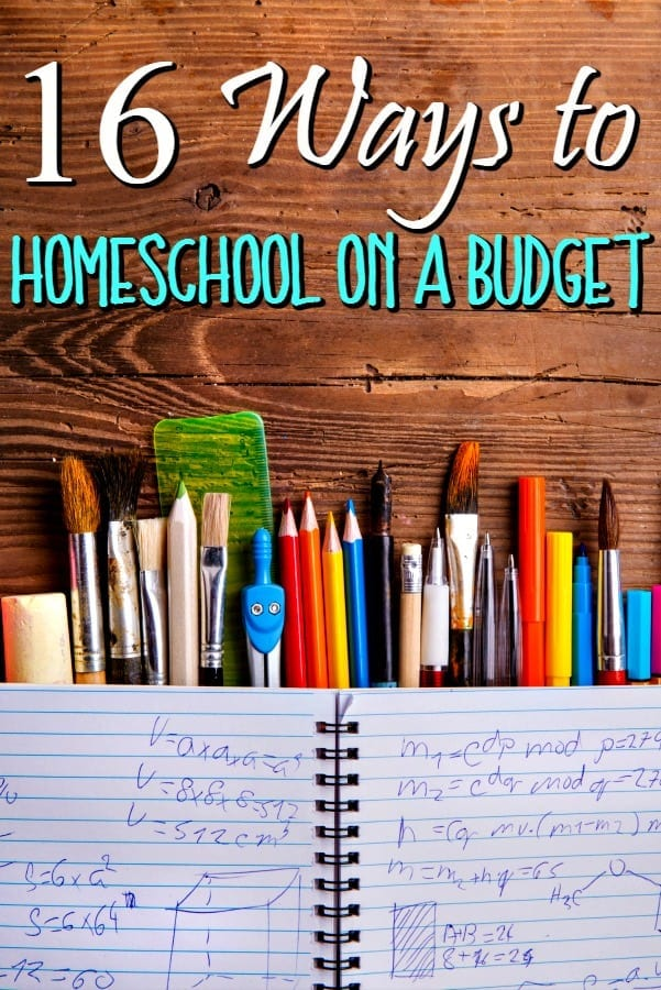 16 Ways to Save Money Homeschooling - If homeschooling your child is making you broke, you're not alone! These 16 ways to homeschool on a budget can help!