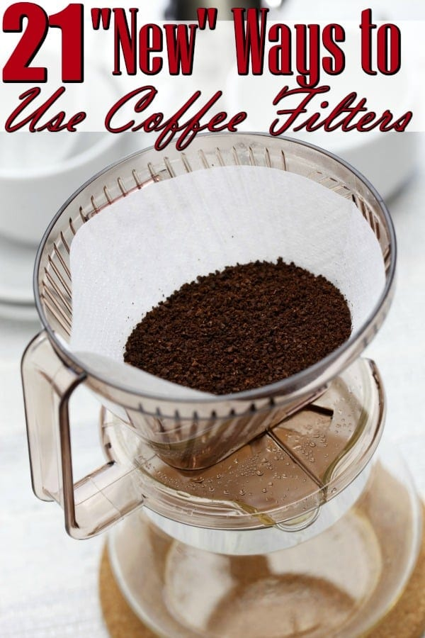 """Ways to Use Coffee Filters (Besides the obvious!) - Have a box of unused coffee filters laying around? They're great for SO many more uses than simply making coffee! You'll love these """"New"""" Ways to Use Coffee Filters!"""