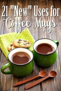 "Ways to Upcycle Coffee Mugs - Have a cabinet full of mugs you won't use? These 21 ""New"" Ways to Use Coffee Mugs can help! Find a craft, get organized and more!"