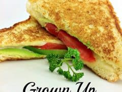 Grown Up Grilled Cheese Recipe with Avocado and Tomato