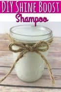 Homemade Shampoo Recipe - Kick up the shine in your hair without harsh chemicals by making the switch to this DIY Shampoo Recipe! Your hair has never looked so great!