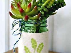 Mason Jar Crafts – Upcycled Mason Jar Succulent Vase
