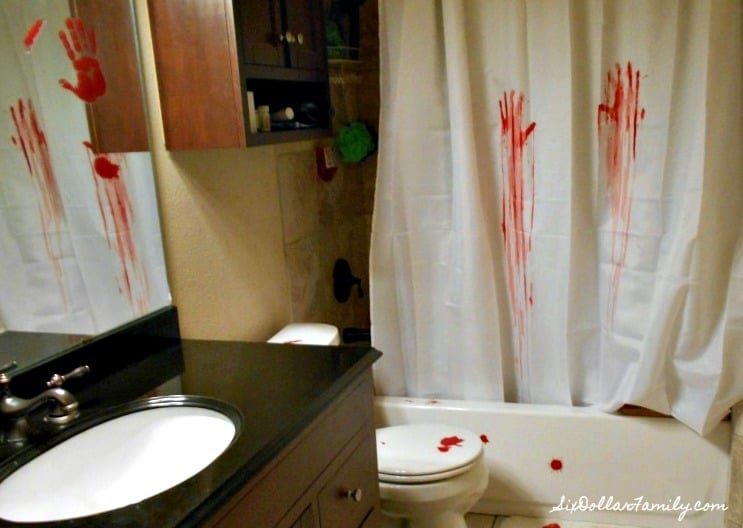 creepy halloween decorations serial killer bathroom decor on a budget - Halloween Bathroom Decorations