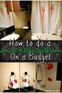 Creepy Halloween Decorations – Serial Killer Bathroom Decor on a Budget