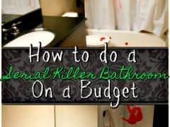 Creepy Halloween Decorations – Serial Killer Bathroom Decor on a Budget