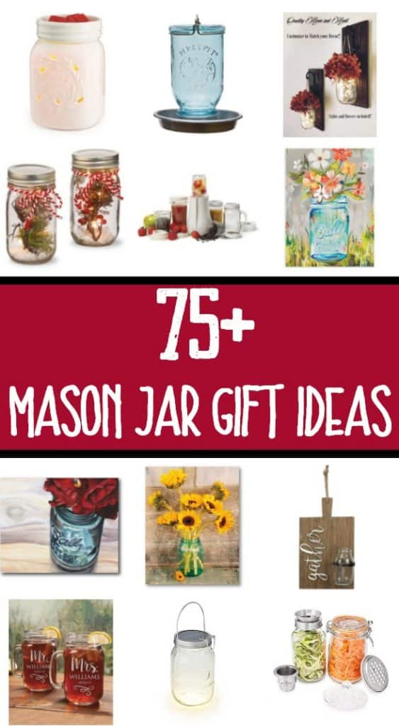 Shopping for someone who adores mason jars? This holiday gift guide has OVER 75 amazing mason jar gift ideas to help you out!