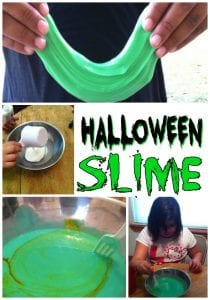 Homemade Slime - Ready to get gross for Halloween? This super simple kids craft is just what you need! This homemade Halloween slime is ooey, gooey and gross!