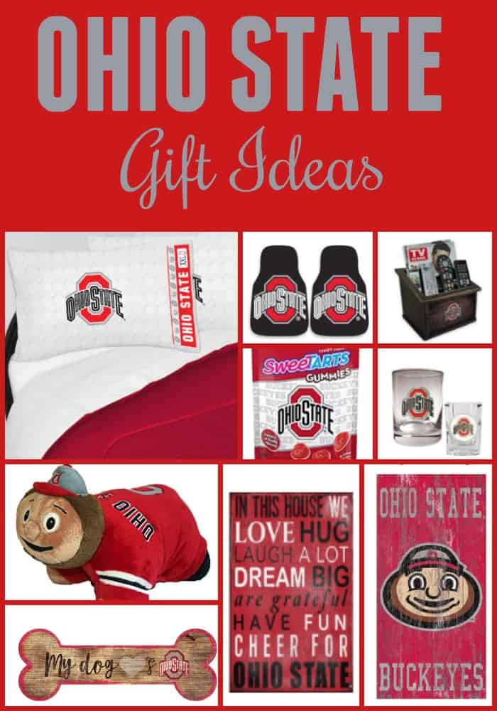 Ohio State Gift Ideas - O-H! Shopping for an Ohio State fan this year? You need this Ohio State Gift Guide! It's packed with OVER 100 Ohio State Gift Ideas for the whole family! I-O!
