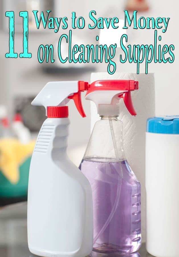Cleaning supplies are often one of the most overlooked places to save money. If you have been skipping over them, these ways to save money on cleaning supplies can help!