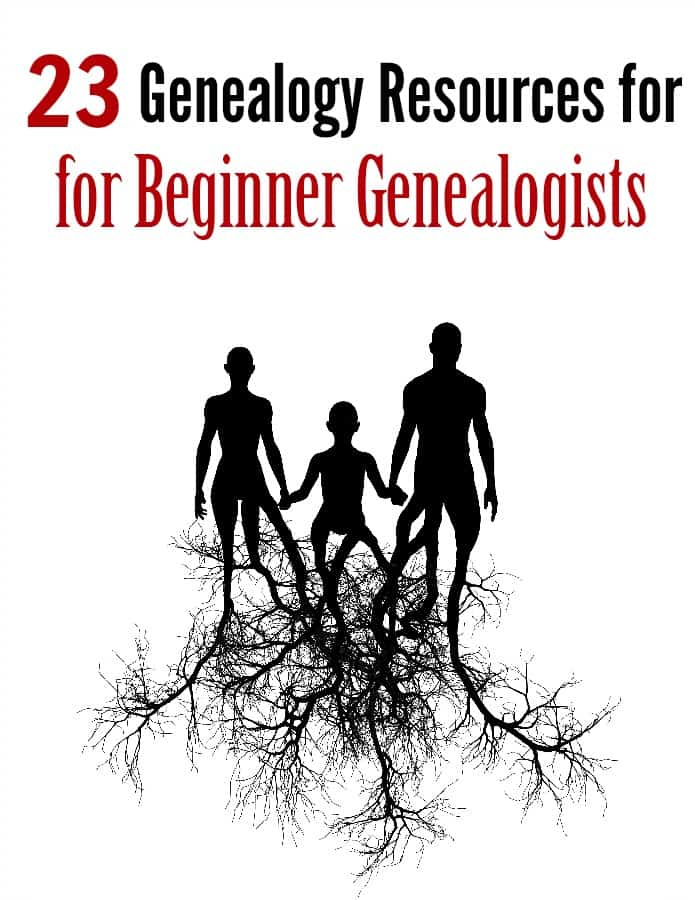Genealogy Resources for Beginners - Researching your family genealogy? These 23 resources are perfect for anyone who is a beginner to searching for family histories!