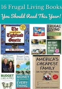Frugal Living Books You Should Read This Year - Looking to kick up your savings and build more wealth this year? Add these 16 frugal living books to your must read list!