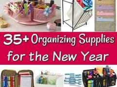 35+ Organizing Supplies for Your Home - Looking to get organized soon? These organizing supplies are perfect for any budget! They're the perfect home organization solutions for any home!