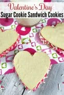 Valentine's Day Cookies – Heart Shaped Sugar Cookie Sandwich Cookies