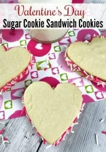Valentine's Day Cookie Recipe - Looking for a cute homemade Valentine's Day gift idea? Make these Heart Shaped Sugar cookie Sandwich Cookies!