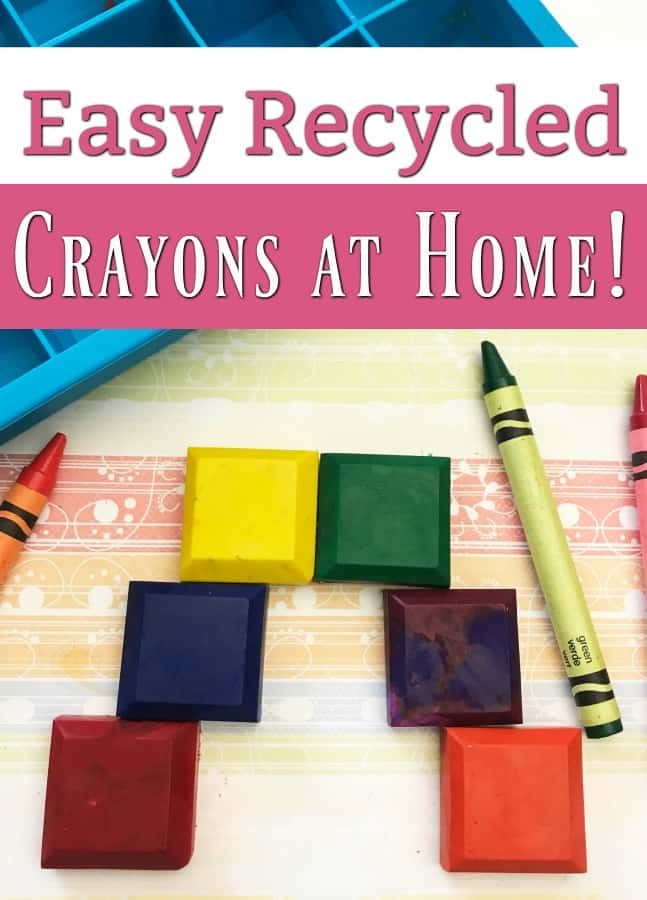 How to Make Recycled Crayons at Home - Broken crayons? Dry your tears and take a step toward a no waste home! It's super easy to make upcycled crayons! Take a look at these simple steps and in just a few minutes, your kids will be coloring away again!