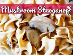Instant Pot Mushroom Stroganoff Recipe {Pressure Cooker Recipe}