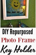 Upcycled Home Decor – DIY Photo Frame Key Holder for Walls
