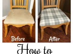 Thrift Store Upcycle – How to Reupholster a Chair