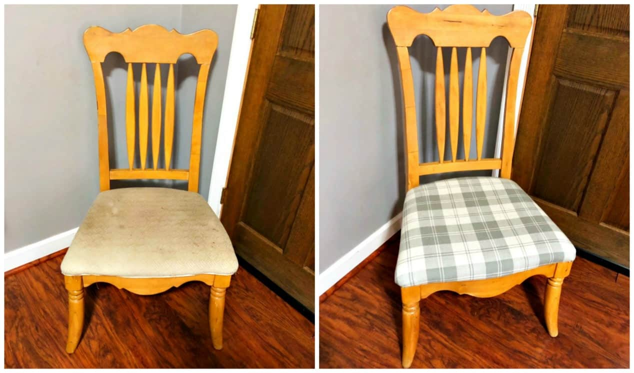 Thrift Store Upcycle - How to Reupholster a Chair