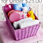How to Build a Baby Shower Gift Basket {for Under $25.00} {How to Build a Baby Welcome Basket on a Budget}