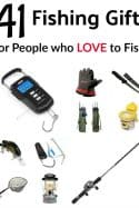 Buying a gift for people who love to fish can be hard! These 41 fishing gifts for people who love to fish make it easy though! They're great for Birthday's, Christmas or anytime gifts!