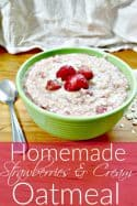 Homemade Strawberries and Cream Oatmeal Recipe