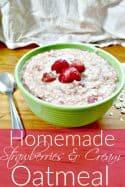 Homemade Strawberries and Cream Oatmeal Recipe