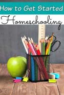 How to start homeschooling - Homeschooling can be a scary new adventure for some families! If that is how you're feeling, let me show you how to start your homeschool easily without fear or any trouble!