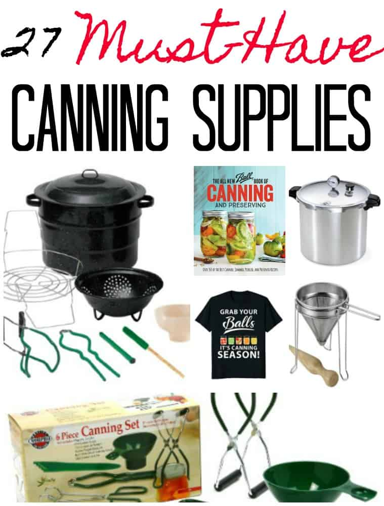 Must Have Canning Supplies & Canning Gift Ideas - Canning your own food is a fantastic way to build a shelf stable pantry. If you're just learning how to can your own food, you may be a bit confused on what you need to start canning. These must have canning supplies include everything you need to get your own home canned pantry started!