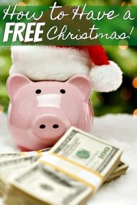 Tired of going into debt for Christmas or of not having enough money in your Christmas budget? I can help! Let me show you how to have a FREE Christmas! I do it every single year and you can too!