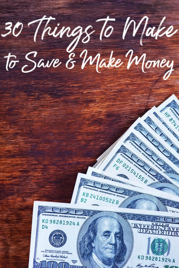 If you have been looking for things to make, these 30 things to make at home to save money are a great place to start! I've saved over $2500 with them!