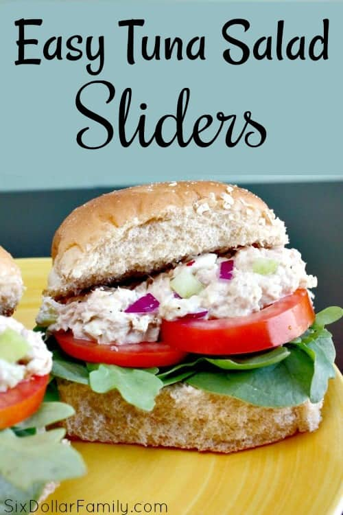 Kick your tuna salad up a notch with this Easy Tuna Salad Sliders Recipe! It's a classic recipe made modern and perfect for lunch, dinner or anytime you're looking for inexpensive family meals!