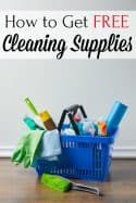 How to Find Free Cleaning Supplies to Save Money